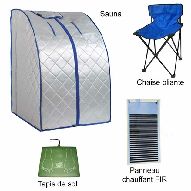 Sauna-infrarouges-FIR-portable-XL-Deluxe-1000W-argenté-SAUVAP-10-ar-2