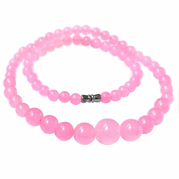 Collier-perle-pierre-Calcédoine-6-14mm-45cm-Selene-Rose-Mes-Bijoux-Bracelets-com-C0321-1