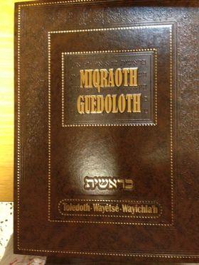 Mikraot guedolot commentaires des parachiot toledoth , Wayetse, Wayichlakh (Vol 3)