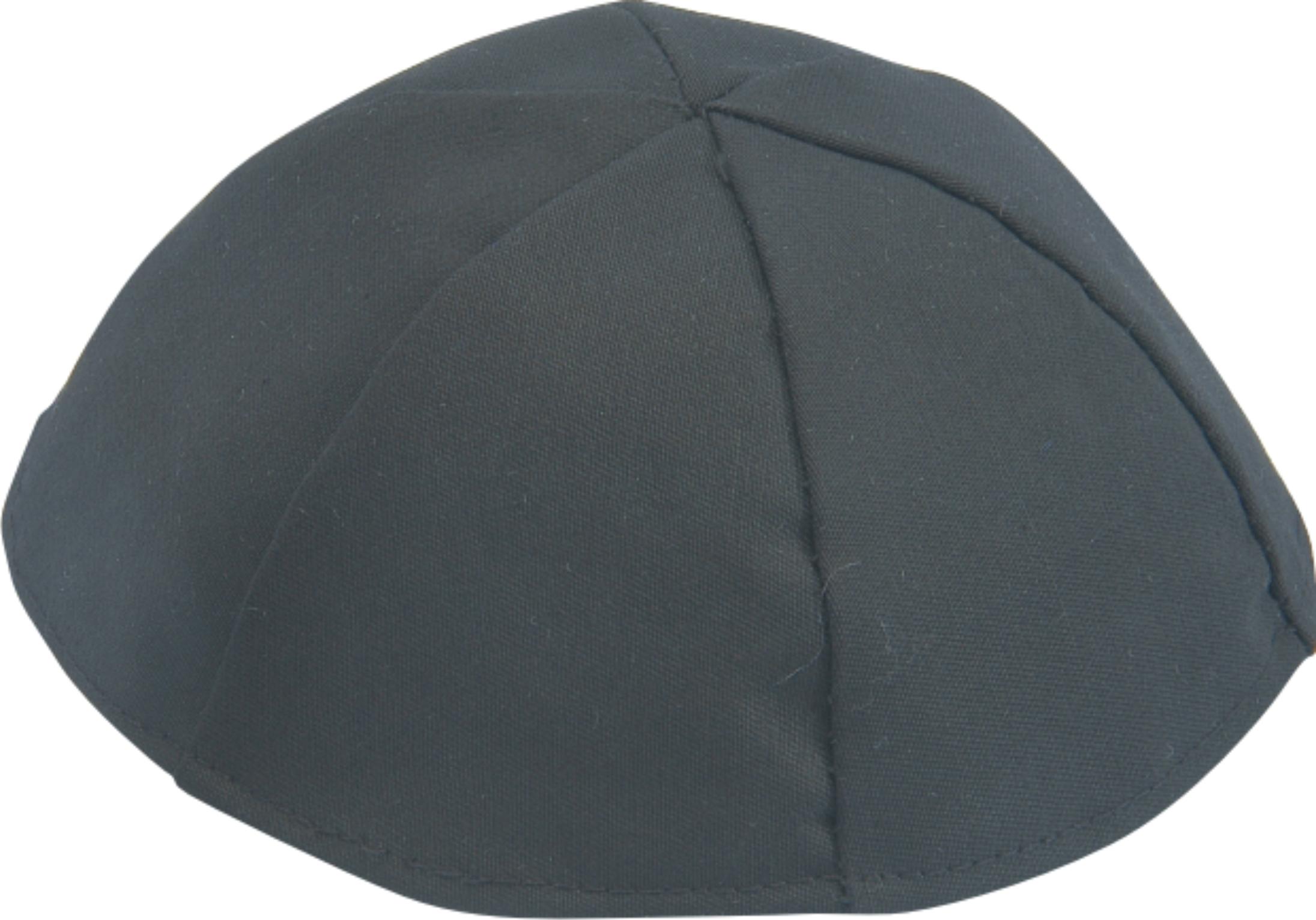 Kippa en tissu noir (Grande Taille)