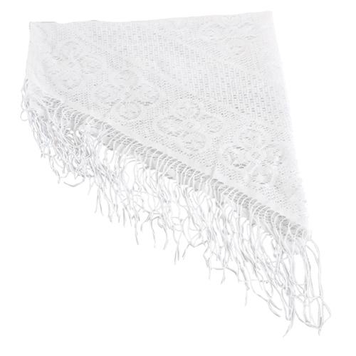 Foulard blanc pour dame