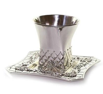 verre de kidouch sans pied + Soucoupe (Métal)
