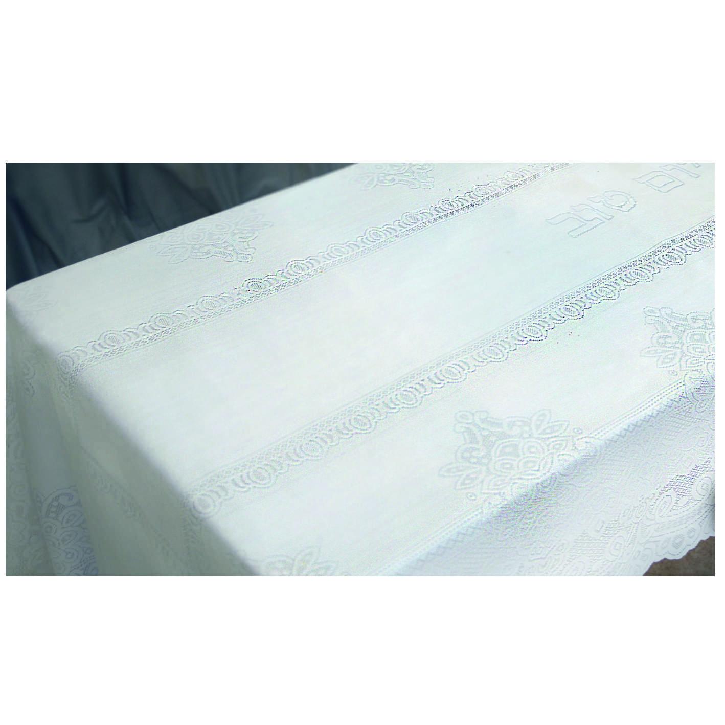 Nappe blanche pour chabat et fêtes 280X140 cm