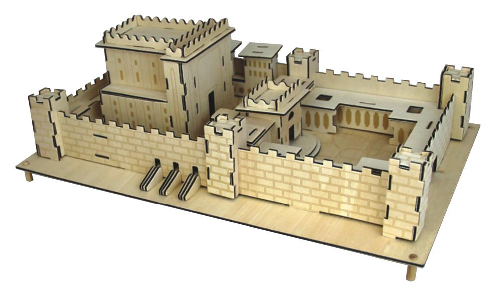 Maquette du temple en bois