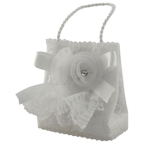 Mini psaumes dans petit panier blanc décoré pour berceau