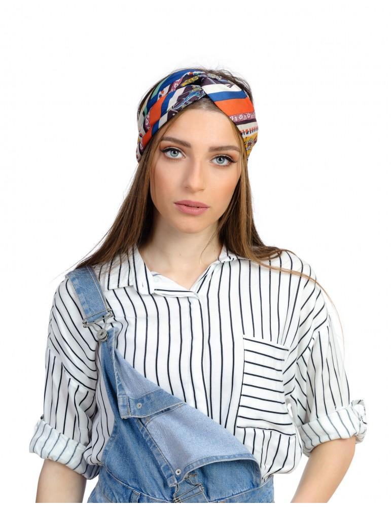 le-bandeau-turban-a-imprime-marron-jaune-et-orange