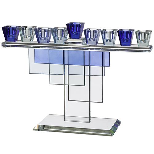 HANOUKIA Design en verre coloré - compatible fioles