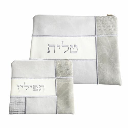 Pochettes talit et téflines en tissu brodé
