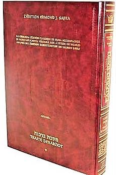 Traité Berakhot vol 1 petit format bilingue Artscroll suit le DAF YOMI