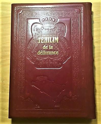 Psaumes luxe (Tehilim) de la délivrance en cuir traduit et commenté
