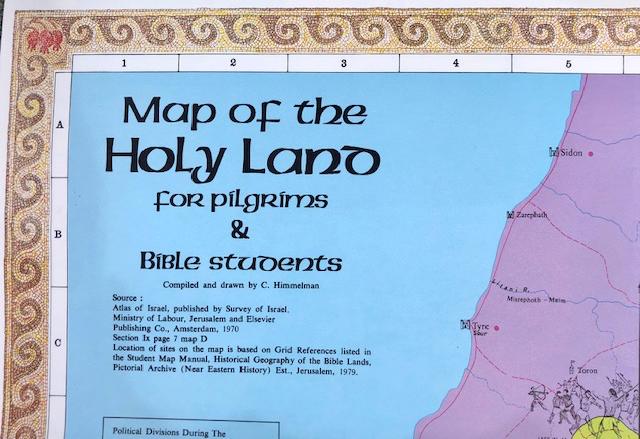 Carte biblique de la terre sainte
