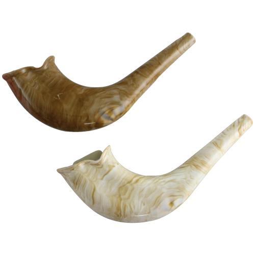 Chofar imitation bois en plastique élégant 21cm - couleur naturelle