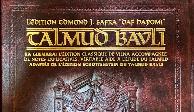 Talmud Artscroll DAF HAYOMI - Traité Berakhot bilingue vol 2 Moyen Format