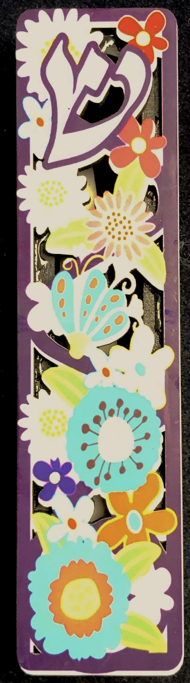 Boitier de Mezouza fleuri et coloré  10cm