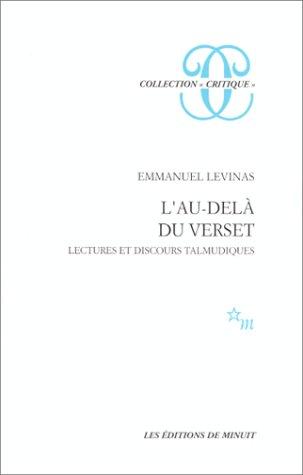 Emmanuel Levinas : L\'au dela du verset