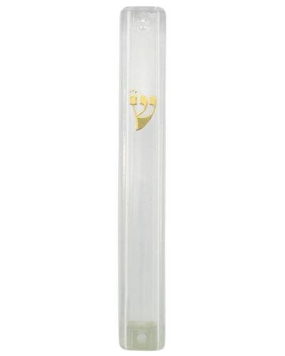 Boitier mezouzah  en PVC transparent 10 cm
