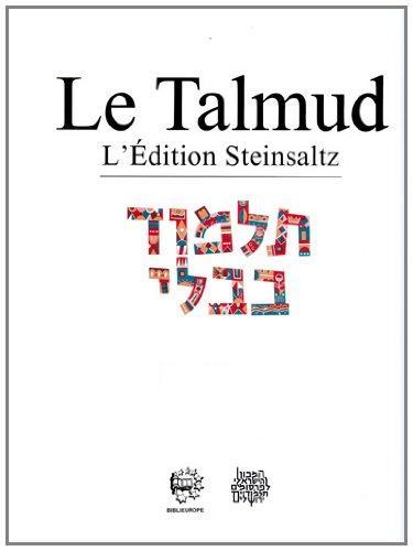 Le Talmud Steinsaltz Traité Berakhot Vol.4
