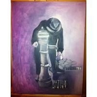 La fontaine, huile sur toile