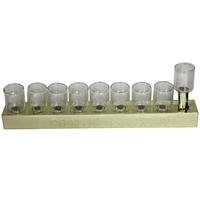 Hanoukia en étain avec verres intégrés pour allumage à l'huile ou à la bougie classic