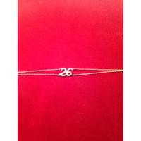 Bracelet nom d'Hachem 26 plaqué or et zircon.