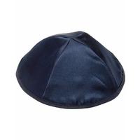 Kippa en Satin Bleu Taille Standard