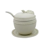 Pot à miel en porcelaine avec perles