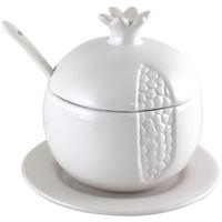 Pot à miel en porcelaine forme de grenade