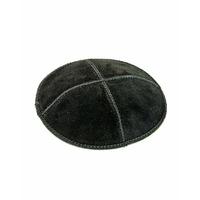 Kippa en Daim noir (Taille standard)