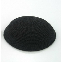Kippa crochetée Noire (Petite Taille)