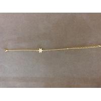 Bracelet plaqué or avec Maguen David incrustée de strass