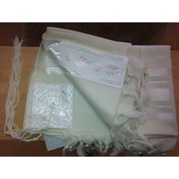 Talit gadol en laine Blanc (Taille 60)