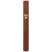 Boitier mezouza en PVC imitation bois 15 cm