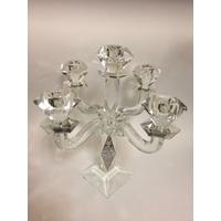 Chandelier en cristal à 5 branches avec déco Jérusalem