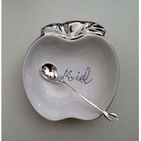 Pot à miel porcelaine argenté