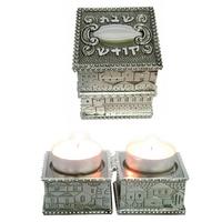 Bougeoirs de voyage cubes avec deco Jérusalem