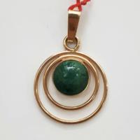 Pendentif en or 14 carats pierre d'Eilat