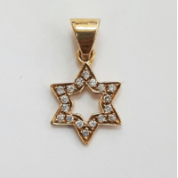Maguen David en or jaune et diamants 18 carats
