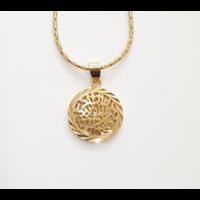 Chema Israël plaqué or avec chaîne