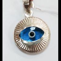 Pendentif Oeil bleu en argent