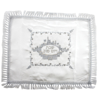 napperon en satin blanc brodé  pour hallot 1er Prix