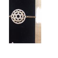 Bracelet Maguen David  plaqué or et zirkon