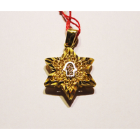 Maguen David en or avec main incrustée (1.80g)