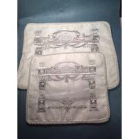 Housses talit et téfilines en tissu blanc avec broderie