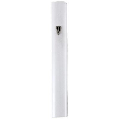 Boitier mezouza en aluminium blanc 10 cm