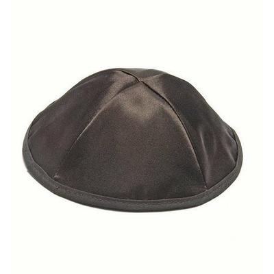 Kippa en Satin Noir Taille Standard