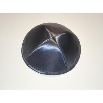 Kippa de luxe satin gris taille standard