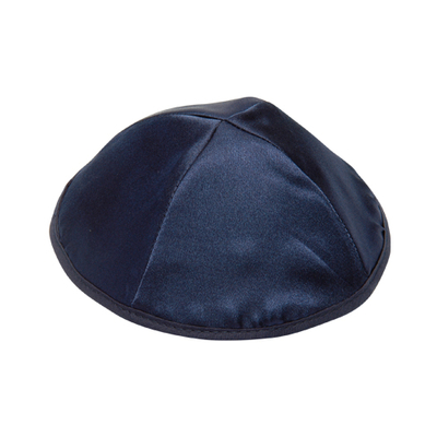 Lot de 6 Kippot (Satin bleu nuit)