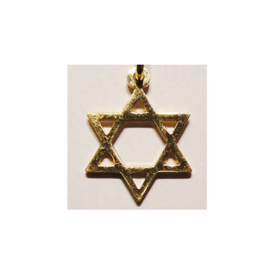 Maguen David simple en or