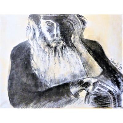 Le Rabbin au fusain