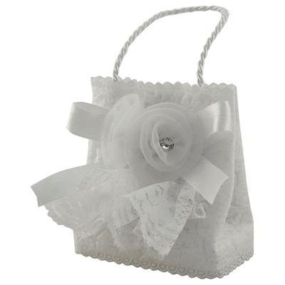 Mini tehilim dans petit panier blanc décoré pour berceau